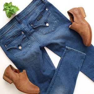 Hudson Collin Flap Pocket Skinny Crop Jeans 27